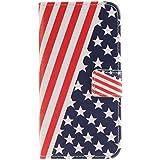 Owbb Drapeau américain Flip Housse Étui pour Samsung Galaxy S7 Edge Smartphone Coque de protection en PU cuir