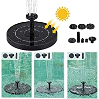 Mainstayae Solar Panel Power Floating Water Pump Anti-clogging Water Flow Outdoor Garden Fountain Scenery