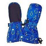 JAN & JUL Wasserdichte bleib dran Fäustlinge für Babys Kleinkinder und Kinder(XS:0-2Y, Kein Daumen: Pinguin)