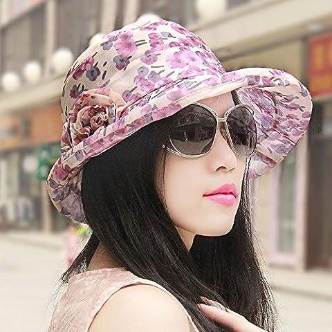 DSAAA chapeaux de soleil Mesdames Respirant Pac Pots De Fleurs Cap Kaki