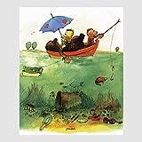 Kunstdruck Janosch - Bootsfahrt 40 x 30 cm, viele