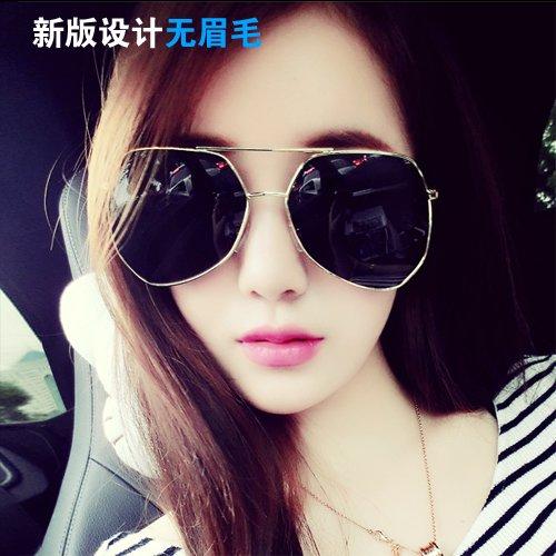 Sunyan Hochglanz spiegel Sonnenbrille Mädchen rundes Gesicht's Tide grau Sonnenbrille Männer rundes Gesicht objektiv Sterne, Gläser, cooles blau silber verspiegelt Kante