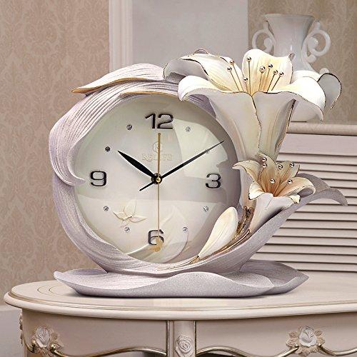 Patined kreative Clock Quarzuhr modernen minimalistischen Stereoanlage Relief Wanduhr parfum, Parfum, Lily Lily Asche