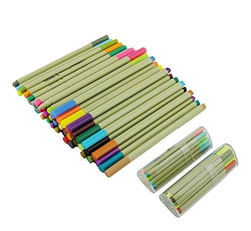 lanxivi-set-di-pennarelli-confezione-da-48-pezzi-colori-assortiti-penna-a-punta-fine-03-mm-con-astuc