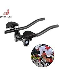 Manillar para Triathlon Barras de Descanso, JIM'S STORE Aleación de aluminio de la bici Manillar del brazo Tri Bars TT Ciclismo Relajación Rest Bar para Bicicleta de carretera y Bicicleta de montaña