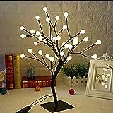iBaste Tischlampe mit LED Ball Nachtlichter Baumlicht Künstliche Licht 45cm Festliche Lichter Deko für Büro Haus order Party
