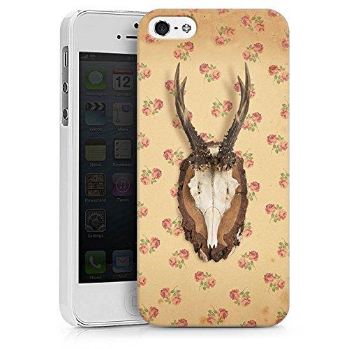 Apple iPhone 6s Silikon Hülle Case Schutzhülle Oktoberfest Geweih Reh Hard Case weiß