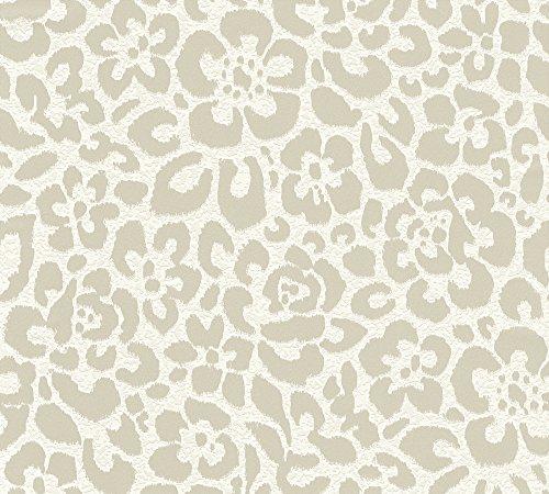 Esprit Vliestapete Relax in Winter Tapete mit Blumen floral 10,05 m x 0,53 m creme grau Made in Germany 327582 32758-2 -