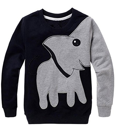 KaloryWee Baby Jumper, Toddler Baby Girls Boys Clothes Elephant Long Sleeve Blouse Tops Sweater Shirt Jumpers T-Shirt