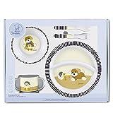 Sterntaler Set de vaisselle Hanno, Assiette, bol, cuillère, fourchette, Tasse, Âge: Pour les bébés à partir de 6 mois, Multicouleur