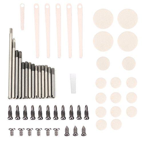Dilwe Klarinetten Reparatur Werkzeuge, 7 Arten von Wartungswerkzeugen Rollen Pads Einstellschraube Schrauben