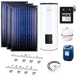 Buderus Solaranlage - 2 Kollektoren Logasol SKN4.0-s mit Solarspeicher Logalux SM300 weiß