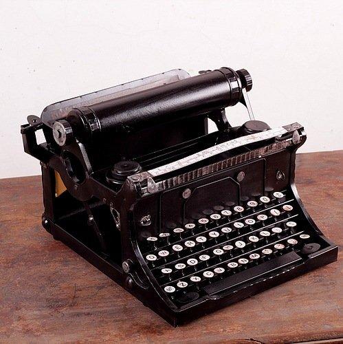 COLLECTOR Antigua máquinas de escribir viejo modelo metal hecha a mano de hierro de bar decoración 29 * 21 * 29 CM