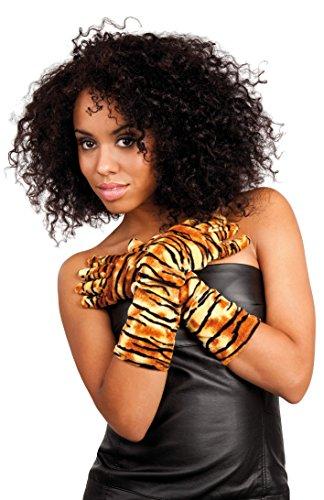 Kostüm Mechaniker Zubehör - Boland 03122 - Handschuhe Tiger, Einheitsgröße, Mehrfarbig