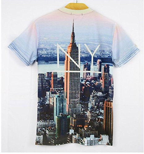 Pretty321 Men Women 3D NY City Creative Hip Hop Graffiti Unisex T-Shirts Amazon