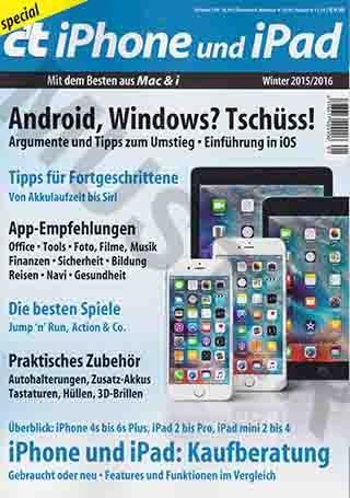 C`t iPhone & iPad Winter 2015/2016: Android, Windows? Tschüss! Argumente & Tipps Zum Umstieg