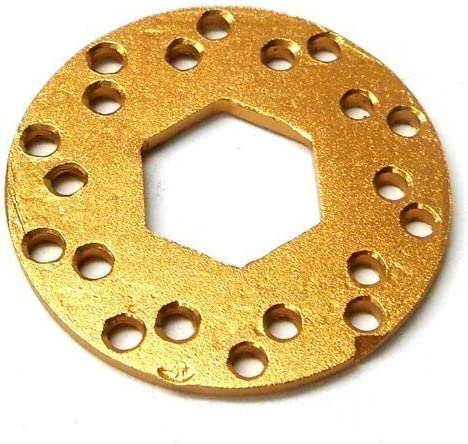 L133 RC Brake Disc Disk V2 x x x 1 14mm Center 1/10 Scale Light Brown Alloy | Pas Cher