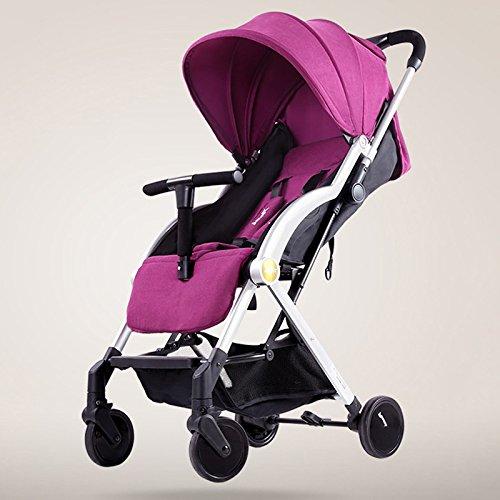 Baby carriage Mini Folding Kinderwagen 0-36 Monate Travel System Kleine Kinderwagen 360-Grad-Schwenker Vorderrad Flaschenregal Kleinkinderwagen (0-3 Jahre) A