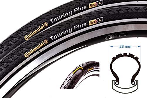2x CONTINENTAL Touring PLUS 28 Zoll 28-622 Fahrrad Reifen 700x28