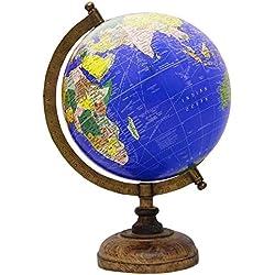 Bola del mundo decorativa azul