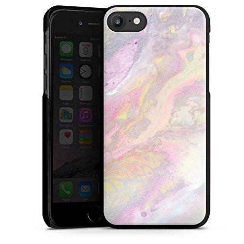 Apple iPhone 4s Silikon Hülle Case Schutzhülle Wasserfarben Muster Pastell Hard Case schwarz