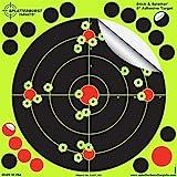 """Packung mit 50 - 20,3cm Selbstklebenden """"Stick & Splatter"""" Splatterburst Ziele - Schüsse platzen beim Aufprall leuchtend gelb - Perfekt alle Gewehre, Pistolen, Luftgewehre, Airsoft"""