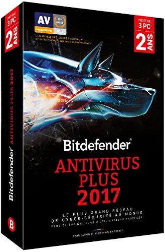 Bitdefender Antivirus Plus 2017 (3 appareils, 2 ans)