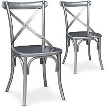 chaise bistrot metal. Black Bedroom Furniture Sets. Home Design Ideas