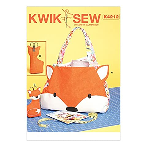 Kwik Sew Patterns K4212OS Tote Bag and Scissor Holder Sewing Pattern, Multi-Colour