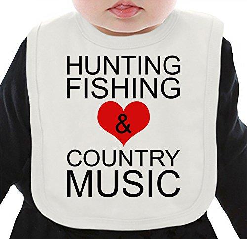 hunting-fishing-and-country-music-babero-organico-medium