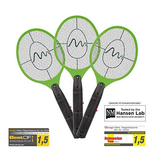 Gardigo Lote de 3 Matamoscas eléctrico mosca raquetas