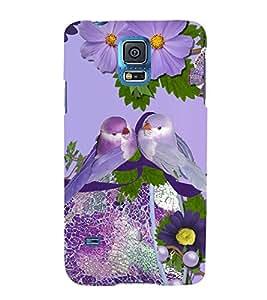 Print Masti Designer Back Case Cover for Samsung Galaxy S5 Mini :: Samsung Galaxy S5 Mini Duos :: Samsung Galaxy S5 Mini Duos G80 0H/Ds :: Samsung Galaxy S5 Mini G800F G800A G800Hq G800H G800M G800R4 G800Y (Pinterest Couple Bird Tree Flower)