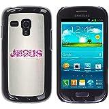 TopCaseStore / la caja del caucho duro de la cubierta de protección de la piel - Jesus Bible Quote Truth Way Life Religion - Samsung Galaxy S3 MINI NOT REGULAR! I8190 I8190N