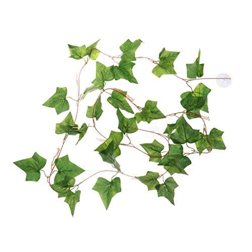 Sharplace Künstliche Terrarium Pflanzen Efeu Reben Kletterpflanze Dekoration (Terrarium Reben)