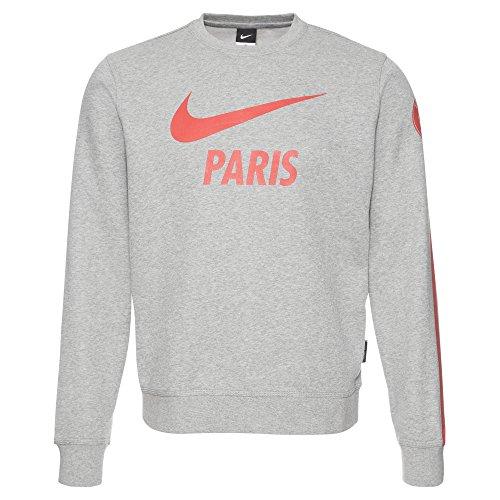 Nike Herren PSG Paris Saint-Germain Covert Fleece Hoody AW77, Grau, M, 629724-066