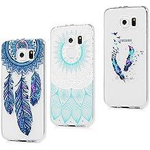 3x Funda para Samsung Galaxy S6, Carcasa Silicona Gel Case Ultra Delgado TPU Goma Flexible Cover para Samsung Galaxy S6 - Totem + Pluma De Color + Captura