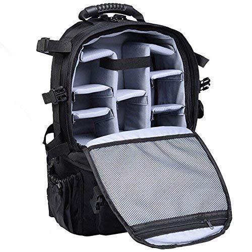 UNHO® DSLR Kamerarucksack Spiegelreflex - Profesioneller Rucksack Kamera Spiegelreflexkameras - Camera Backpack Fotorucksack mit Regenschutz, Stativhalterung für Sony Canon Nikon SLR / DSLR Kameras Slr-kodak Easyshare