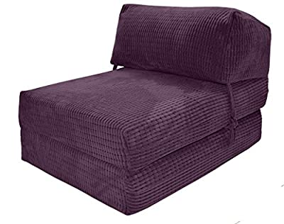 JAZZ CHAIRBED - AUBERGINE DA VINCI Deluxe Single Chair Bed futon - inexpensive UK light store.