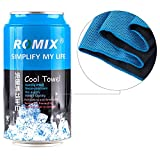 #3: ROMIX Cooling Towel with Ice Evaporative Chilly Microfiber Technology for Instant Cooling Relief (Blue)