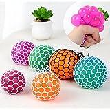 Jiaqinsheng Maille Stress Squishes Play Squeeze Gripper Ball (couleur aléatoire)