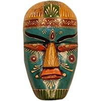 Indian Made Decorative Wall Mask Rajasthani Very Beautiful Art (Dimension - 15 cm * 23 cm) by Cocovey