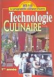 Technologie culinaire, 1�re ann�e : B...