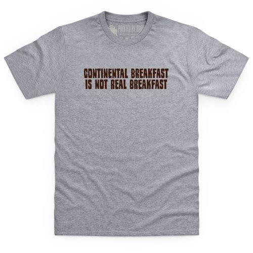 Continental Breakfast T-Shirt, Herren Grau Meliert