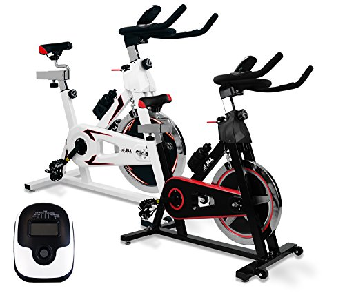 JLL IC300 Indoor Cycling Exercise Bike, Direct Chain Driven 18kg Flywheel with Adjustable Friction Resistance