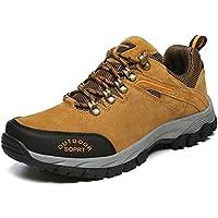 JOYTO Zapatillas de Senderismo Trekking Para Hombre Outdoor Escalada Montaña Zapatos de Deporte Gris Marrón Ejercito