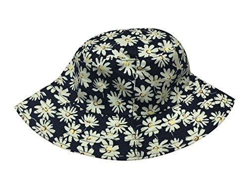 ACVIP Femme Chapeaux Bob de Pêche D'impression de Soleil Voyage Vacances #1 fleur jaune