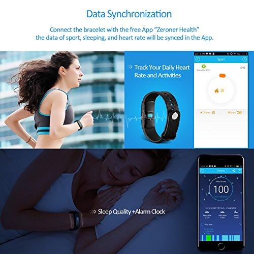 Mpow Fitness Tracker mit Pulsmesser Bluetooth 4.0 Smart-Herzfrequenz Monitor Schrittzähler Schlafanalyse Aktivitätstracker Kalorienzähler Schlaftracker für Android und iOS Smart Phones. - 3