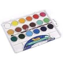 Jovi - Acuarelas, estuche con 18 pastillas de 22 mm, colores surtidos (800/18)
