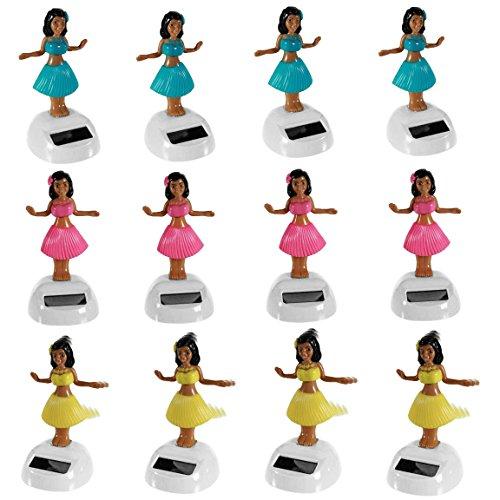 Bada Bing 12er Sparset Solar Wackel Figur Hula Girl Hawaii Mädchen Tänzerin Vorteilspack Mitbringsel Geschenk TT