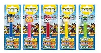 PEZ set de dispensadores Paw Patrol (5 dispensadores con 3 recargas de caramelos PEZ de 8,5g c/u) + 1 paquete de recargas (8 recargas de caramelos PEZ de 8,5g c/u) por PEZ International GmbH